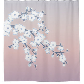 Shower Curtains cherry blossom shower curtains : Japanese Cherry Blossom Shower Curtains | Zazzle