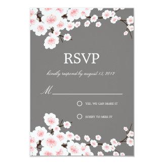 "CHERRY BLOSSOMS | RSVP 3.5"" X 5"" INVITATION CARD"