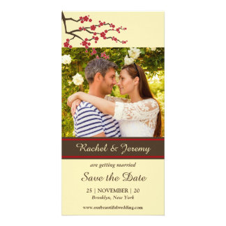 Cherry Blossoms Sakura Flowers Tree Save The Date Card