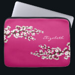 "Cherry Blossoms Sakura Laptop Sleeve (fuschia)<br><div class=""desc""></div>"
