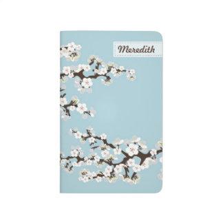 Cherry Blossoms Sakura Pocket Journal (sky blue)