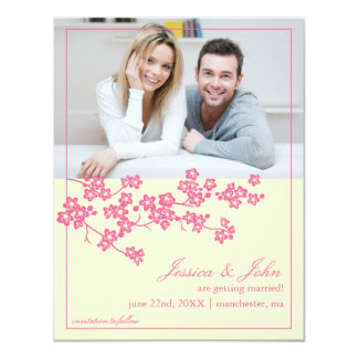 Cherry Blossoms Save The Date Photo Invitation