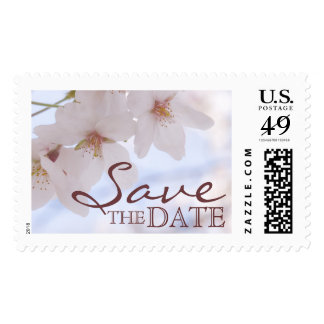 """Cherry Blossoms """"Save the Date"""" Postage"""