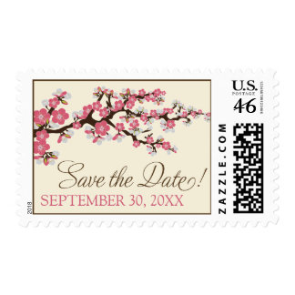 Cherry Blossoms Save-the-Date Stamp pink