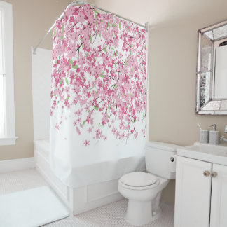 Shower Curtains cherry blossom shower curtains : Cherry Blossom Shower Curtains | Zazzle