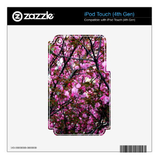 Cherry Blossoms Skins For iPod Touch 4G