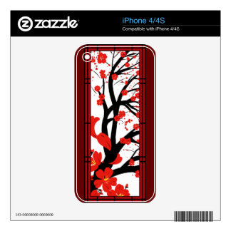 Cherry Blossoms Decals For The iPhone 4S