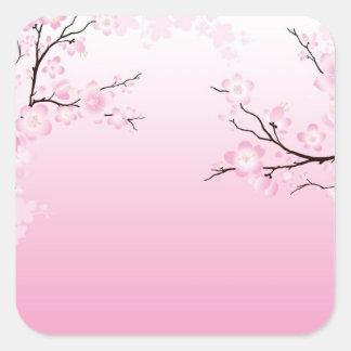Cherry Blossoms Square Sticker