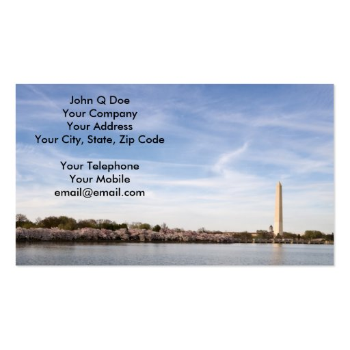 Cherry Blossoms surround Jefferson Memorial Business Cards