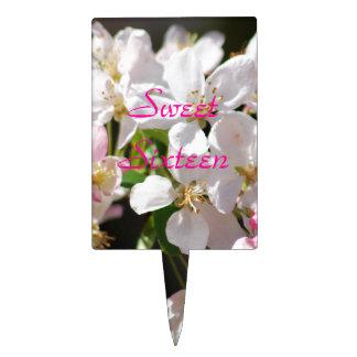 Cherry blossoms Sweet Sixteen Cake Topper