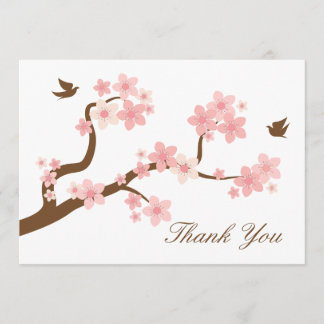 Cherry Blossoms Thank You Note