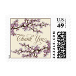 Cherry Blossoms Thank You Stamp (lavender)