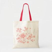 japan, japanese, ninja, samurai, sakura, nippon, asia, cherry-blossom, illustration, graphic, flower, vintage, fujiya, art, oriental, pink, pop, cute, pretty, Bag with custom graphic design