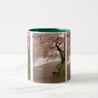 Cherry blossoms Two-Tone Mug