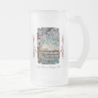 Cherry Blossoms Victorian Frosted Beer Mug