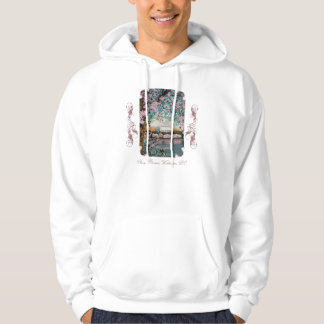 Cherry Blossoms Victorian Hooded Sweatshirt
