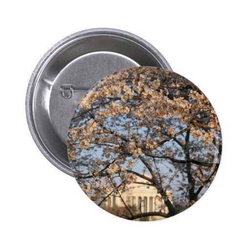 Cherry Blossoms Washington DC 2 Inch Round Button