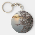 Cherry Blossoms Washington DC Basic Round Button Keychain
