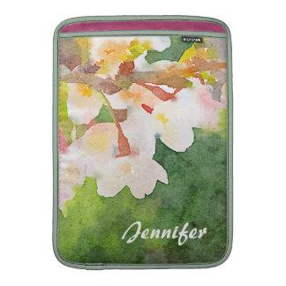 Cherry Blossoms Watercolor Sakura Flowers Spring Sleeve For MacBook Air