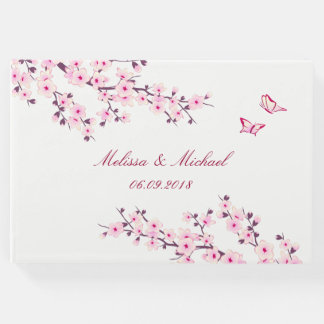 Cherry Blossoms Wedding Guest Book