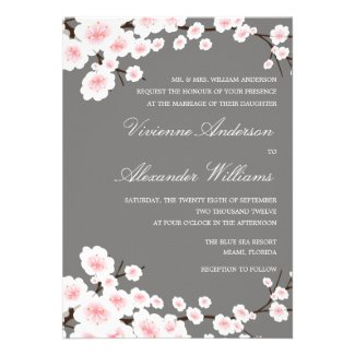 CHERRY BLOSSOMS | WEDDING INVITATION