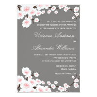 CHERRY BLOSSOMS | WEDDING INVITATION