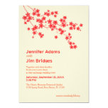 "Cherry Blossoms Wedding Invitation 5"" X 7"" Invitation Card"