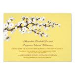Cherry Blossoms Wedding Invitation (lemon)
