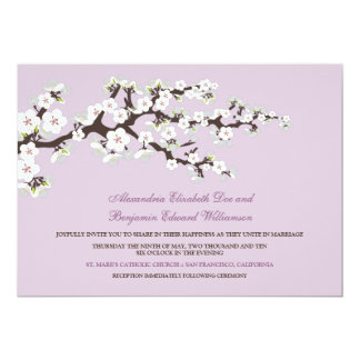 Cherry Blossoms Wedding Invitation (lilac)