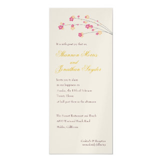 Cherry Blossoms Wedding or Shower Invitation