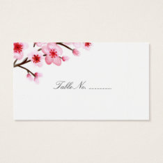 Cherry Blossoms Wedding Place Cards 100 pk at Zazzle