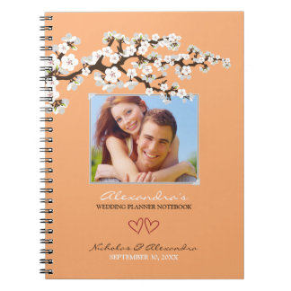 Cherry Blossoms Wedding Planner Notebook (peach)