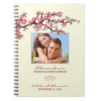 Cherry Blossoms Wedding Planner Notebook (pink)