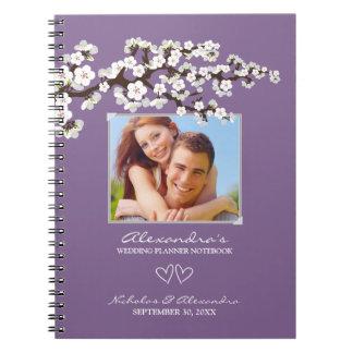 Cherry Blossoms Wedding Planner Notebook (purple)