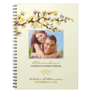 Cherry Blossoms Wedding Planner Notebook (yellow)