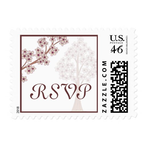 Cherry Blossoms Wedding Postage