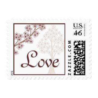 Cherry Blossoms Wedding Postage