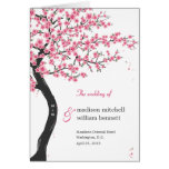 Cherry Blossoms Wedding Program Card Greeting Card