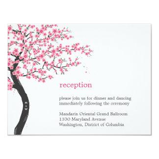 Cherry Blossoms Wedding Reception Card