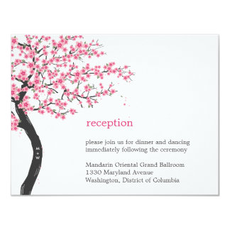 "Cherry Blossoms Wedding Reception Card 4.25"" X 5.5"" Invitation Card"