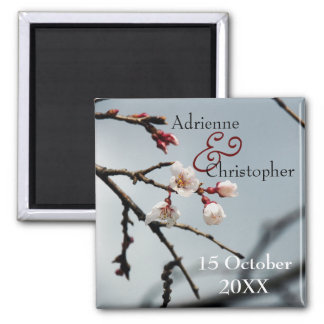 Cherry Blossoms Wedding Save the Date Magnet