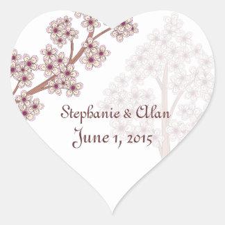 Cherry Blossoms Wedding Stickers