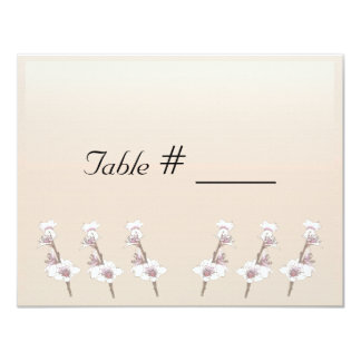 Cherry Blossoms  wedding table place card