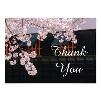 Cherry Blossoms Wedding Thank You Flat Card