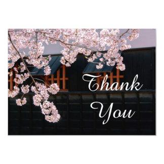 "Cherry Blossoms Wedding Thank You Flat Card 4.5"" X 6.25"" Invitation Card"