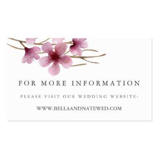 Cherry Blossoms Wedding Website Business Card