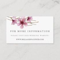 Cherry Blossoms Wedding Website Enclosure Card