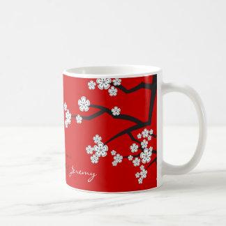 Cherry Blossoms White Sakuras Flowers Zen Mug