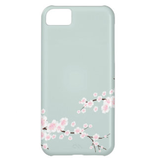 Cherry Blossoms with Mint Green Background iPhone 5C Cover