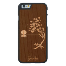 Cherry Blossoms Wooden Iphone 6 Case at Zazzle